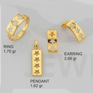 Stars Mini Set on 14k Yellow Gold