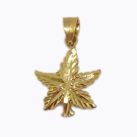 Canadian Maple Leaf Pendant 14K Yellow Gold