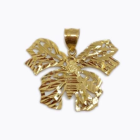 Butterfly Pendant 14K Yellow Gold