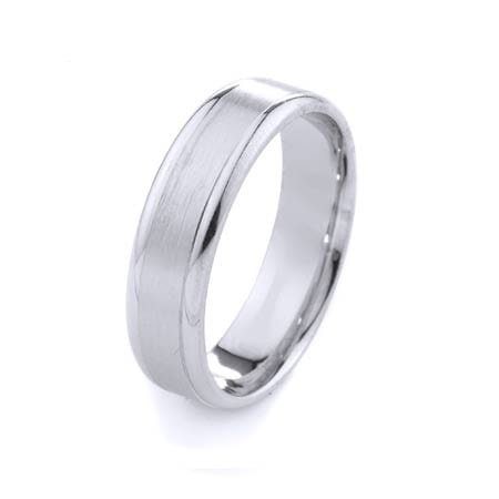 Modern Design High Quality Finishing Solid Fashion Wedding Band 14K White Gold 7MM Wide By 1.60MM Thick